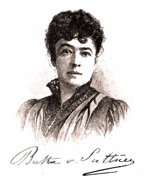 Retrato firmado, de Bertha von Suttner, en 1896. Crédito: Martin Maack