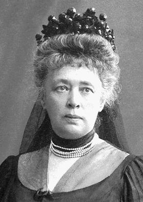 Bertha Von Suttner cuando recibió el Premio Nobel de la Paz, en 1905