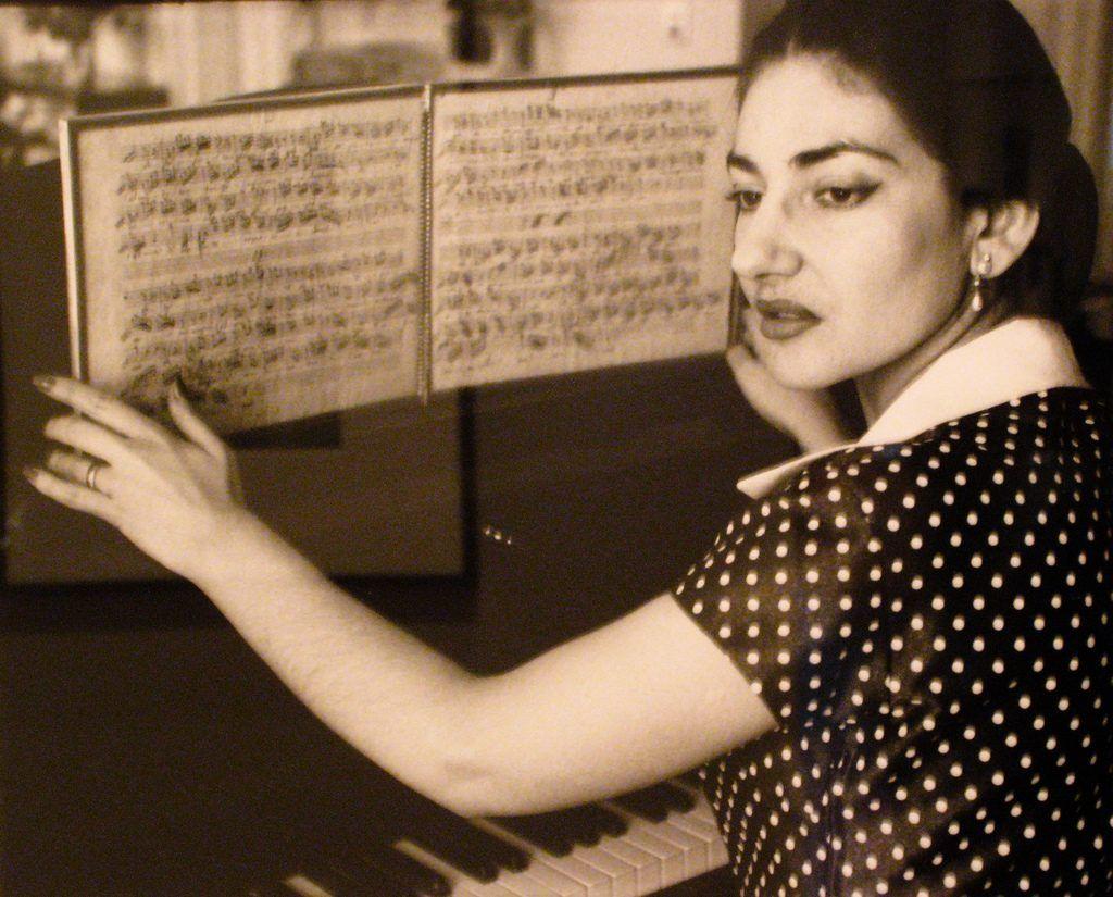 María Callas y una partitura