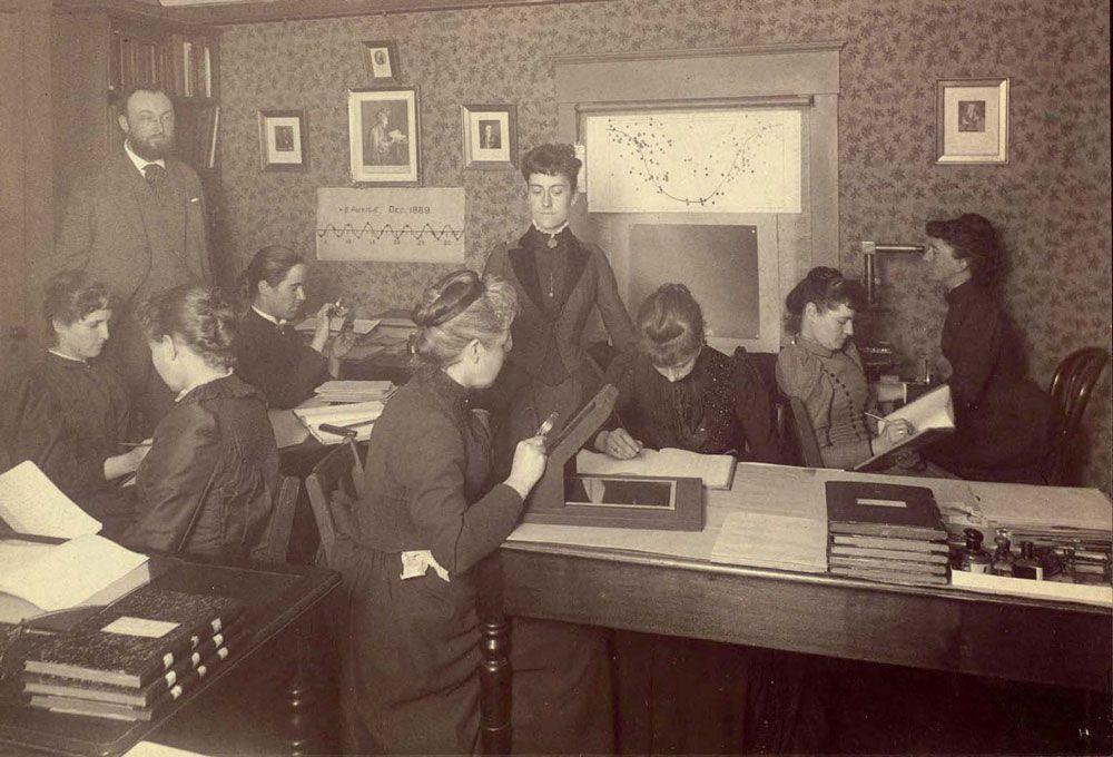 Mujeres astrónomas en Harvard. Crédito: Archivo de la Universidad de Harvard
