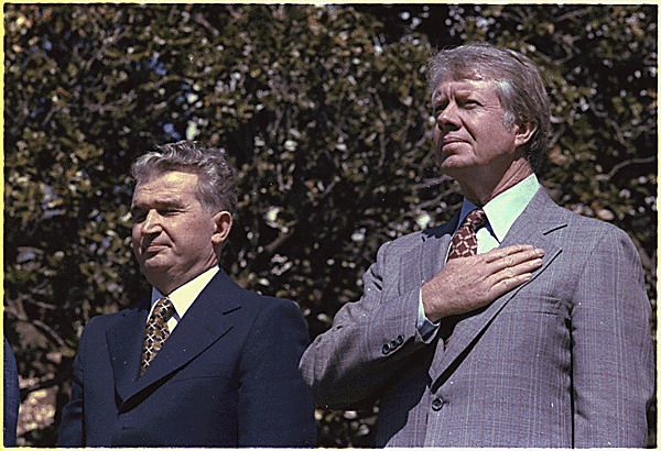 El Presidente de Rumanía y el Presidente de Estados Unidos