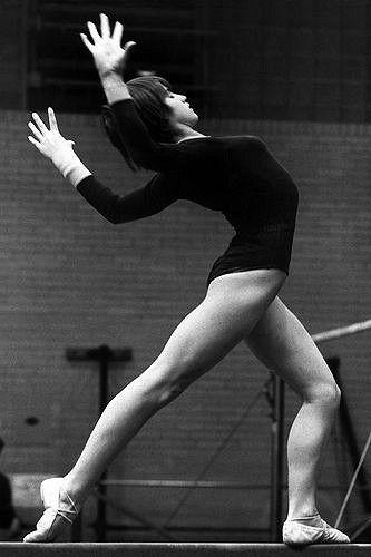 Nadia Comaneci en octubre de 1977