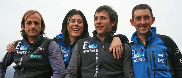 Cuatro alpinistas españoles