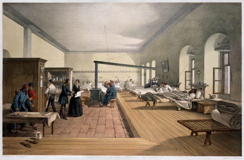 Hospital de Scutari, en donde Florence Nightingales realizó su trabajo de ayuda hospitalaria y sanitaria durante la Guerra de Crimea