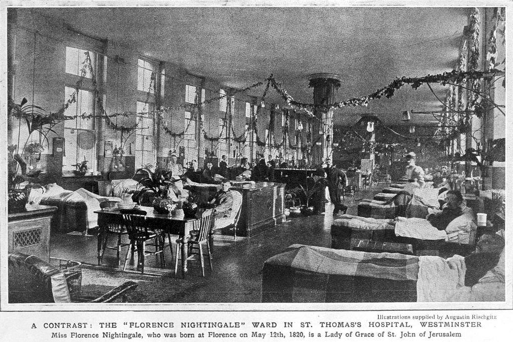 Sala Nightingale en el Hospital Universitario Saint Thomas, de Londres. Crédito: Wlcome Trust