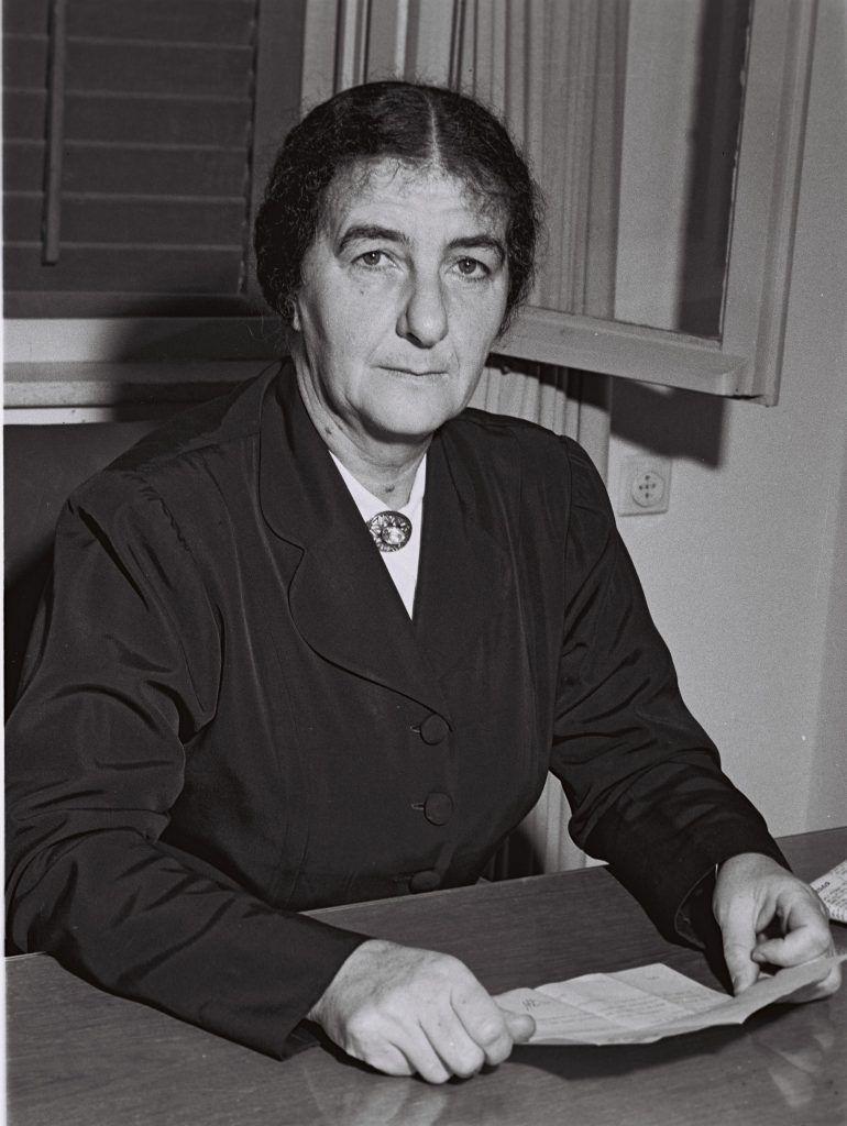 Golda Mier en 1949 fue Ministra de Trabajo. Crédito: Théodore Brauner