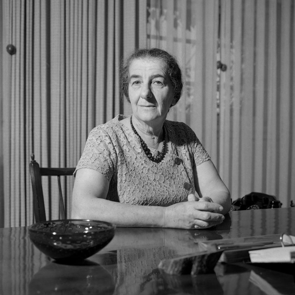Golda Meir cuando era Ministra, en 1964. Crédito: Wilhem Van de Poll