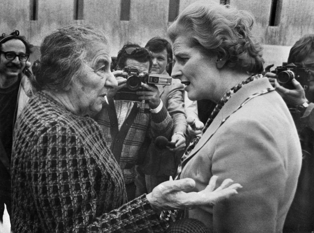 Golda Meir y Margaret Thatcher, en 1976. Crédito: Levan Ramishvili