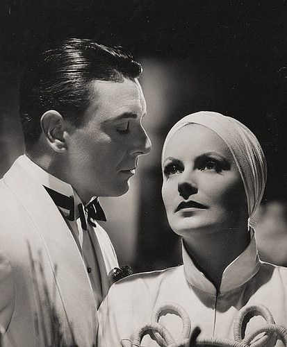 El velo pintado con Greta Garbo