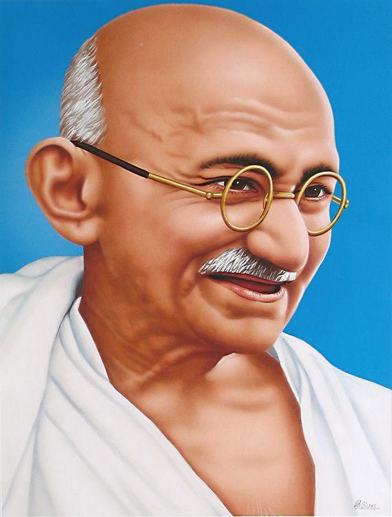 Mahatma Gandhi, principal promotor de la independencia de India. Crédito: India Network