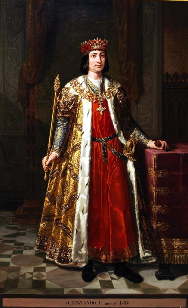 Retrato de Fernando II, Rey de Aragón. Está depositado en el Alcázar de Segovia. Crédito: Wikipedia