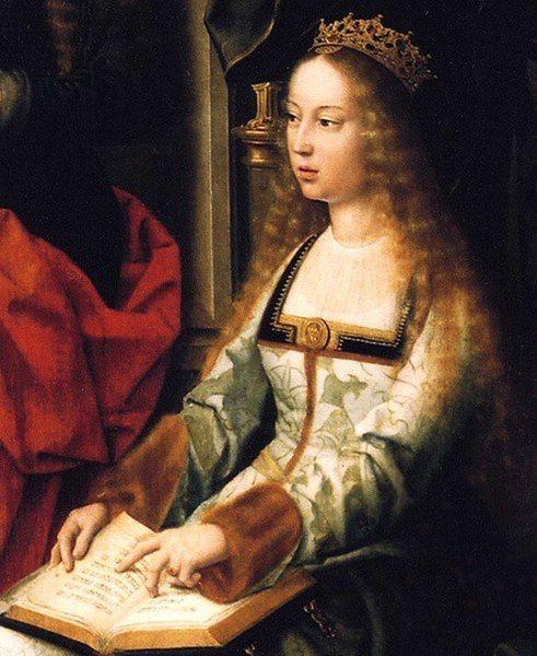 Retrato de Isabel la Católica, que forma parte de un retablo realizado por el pintor flamenco Gerard David, en la Colegiata Santa María la Mayor, de Toro, Zamora