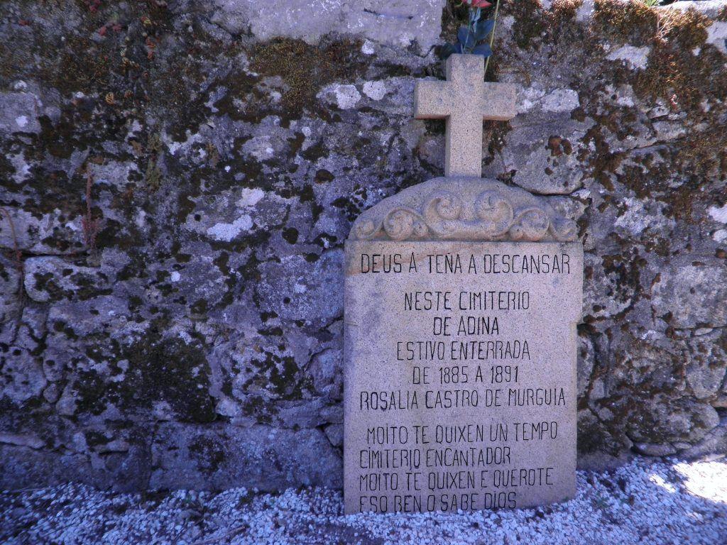 Lápida Rosalía de Castro