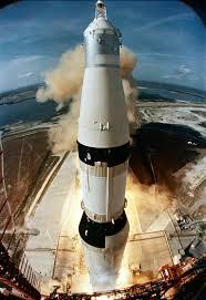 Despegue del cohete Saturno5, el 16 de julio de 1969, desde el Centro Espacial Kennedy. Crédito: NASA,
