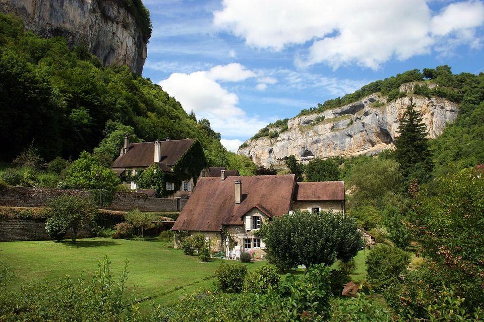 Paisaje de la región del Jura, en Francia