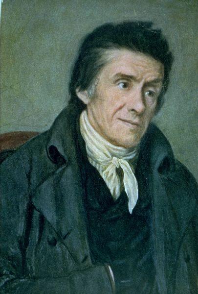 Retrato al óleo del influyente pedagogo suizo, realizado probablemente por F.G.A. Schöner