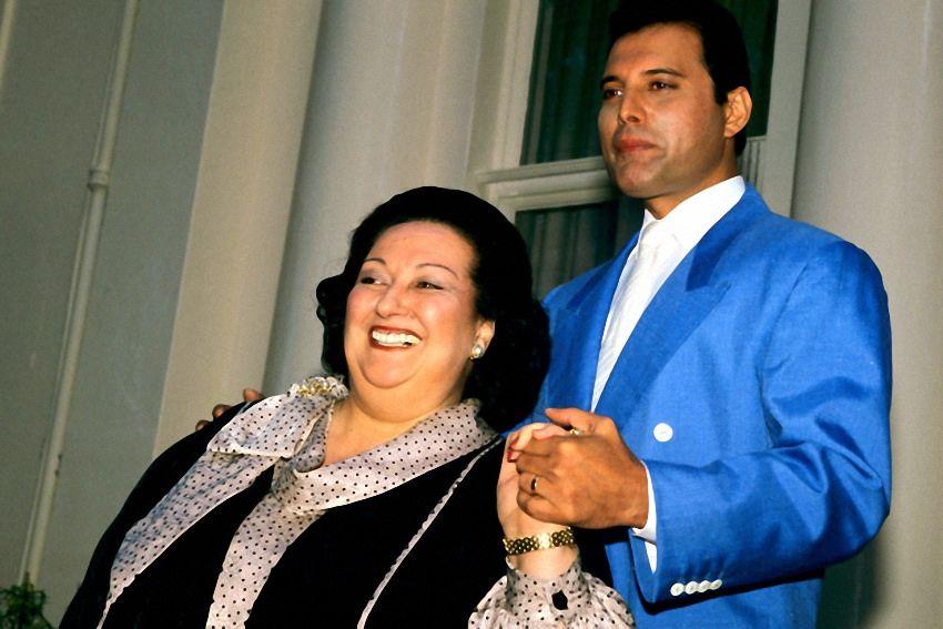 Montserrat Caballé y Freddie Mercury