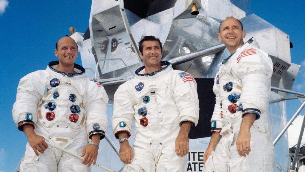 La tripulación que llegó a la Luna en el Apolo XII