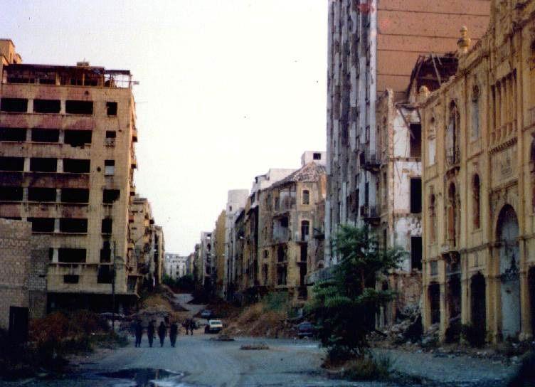 Desolación en Beirut durante la Guerra del Líbano