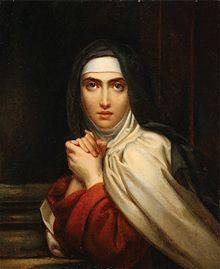Retrato de Santa Teresa de Jesús, realizado por Francois Gerard. Crédito: Wikipedia