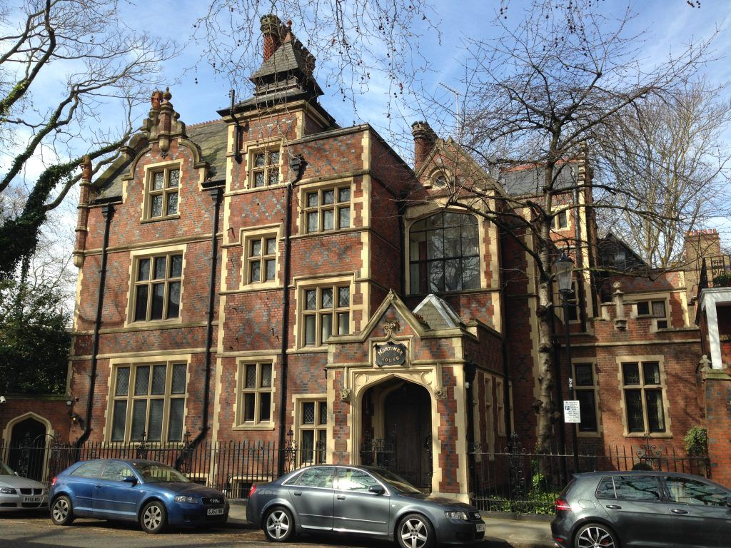Casa del barrio Kensington Sur, de Londres. Crédito: Wikipedia