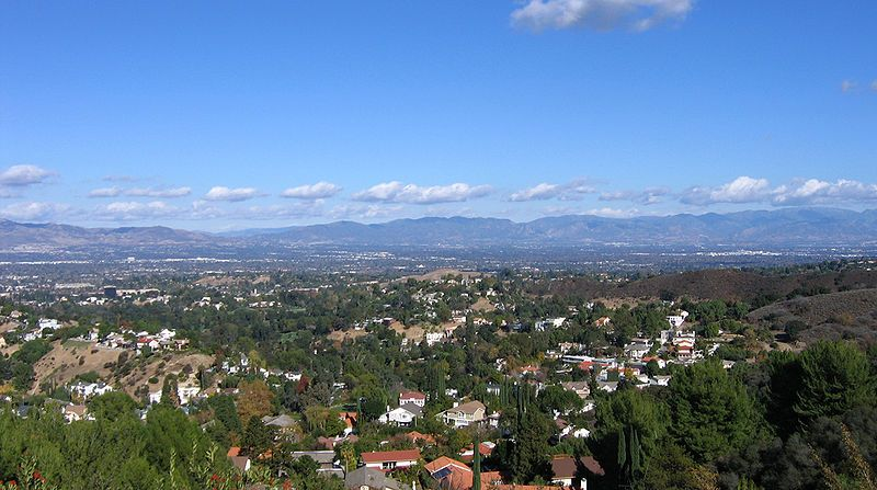 Valle de San Fernando, cerca de Los Angeles, California