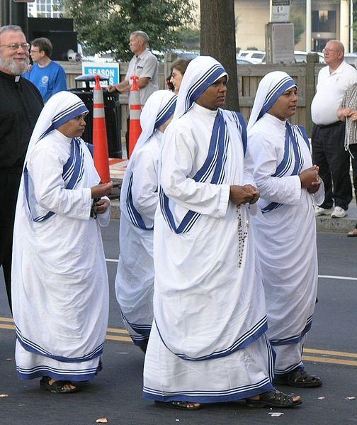 Hermanas de la Caridad en el Congreso Eucarístico 2005, en Charlotte, Carolina del Norte, USA. Crédito: User Fennec