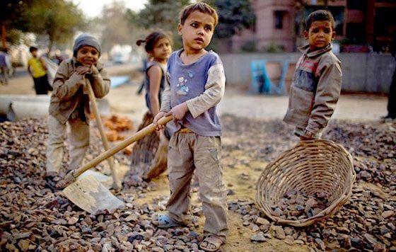 Trabajo de niños en las colonias