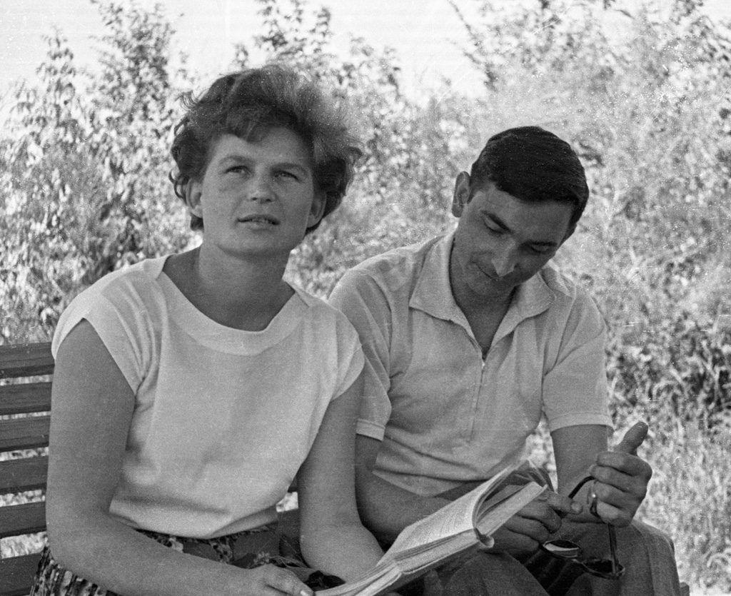Valentina y Valery Bykovsky