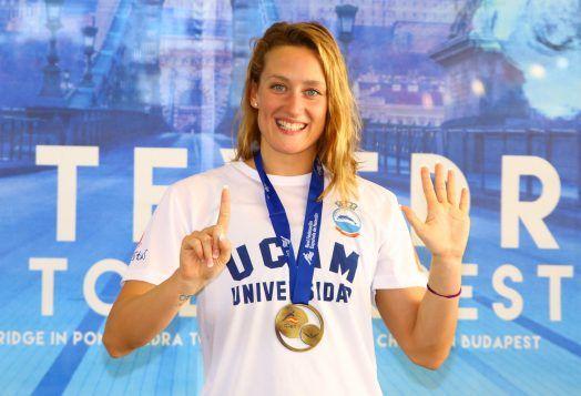 Mireia Belmonte nadadora española de éxito mundial. Crédito: Harpagorrnis