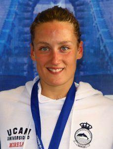 La gran nadadora española Mireia Belmonte, en el Club de Murcia. Crédito: Harpagornis