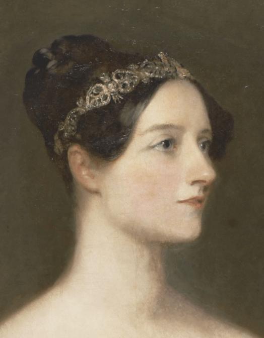 Retrato de Ada Lovelace, realizado por Margaret Sarah Carpenter. Crédito: Wikipedia