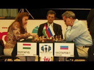 Judit Polgar se enfrentó a Garri Kasparov. Crédito: youtube