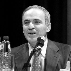 El Gran Maestro Kasparov. Crédito: Wikipedia. Elke Wetzig