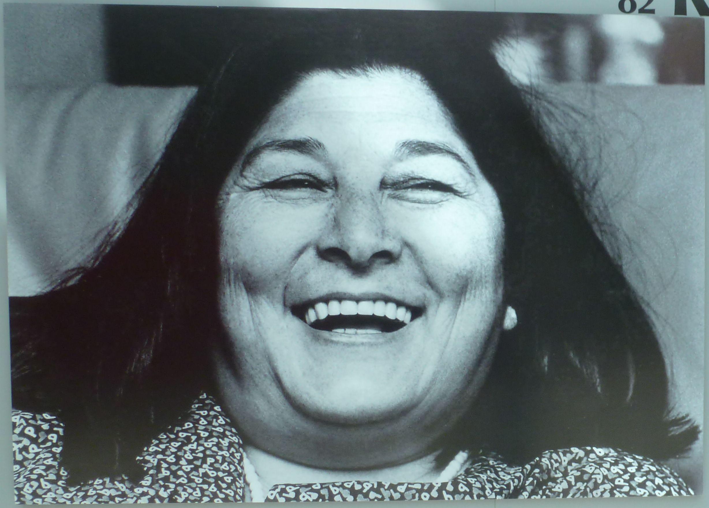 Mercedes Sosa nunca perdía la sonrisa ni las ganas de cantar. Crédito: Sergio 252