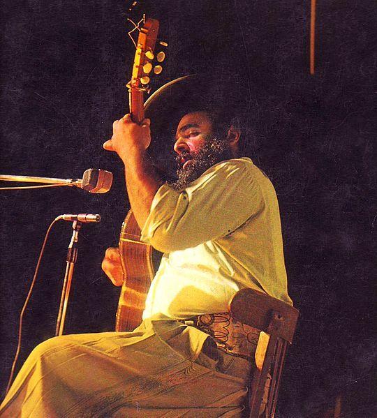 Jorge Cafrune en 1976. Crédito: Wikipedia