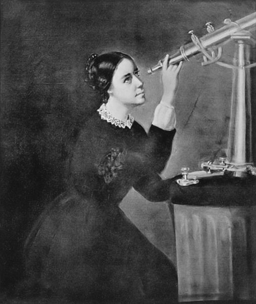 Retrato de María Mitchell, realizado por H. Dassell en 1851. Crédito: Helen Wright