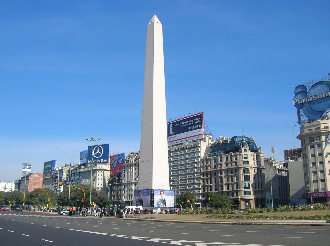 Obelisco de Buenos Aires en la Plaza de la República Argentina. Crédito: Victoria Rachitzky. Wikipedia