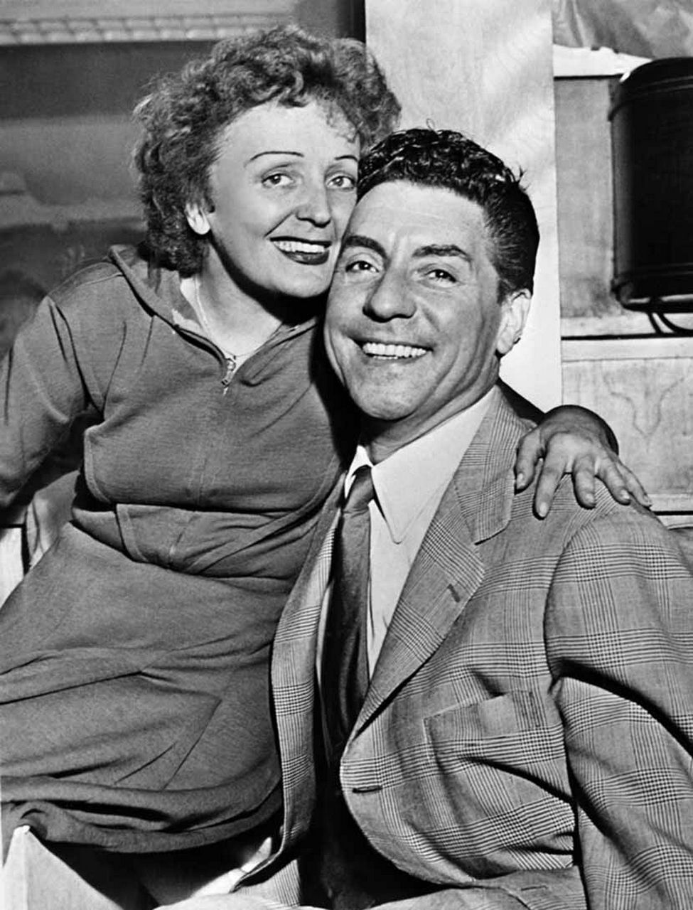 Edith Piaf y Marcel Cerdan en 1949. Crédito: web pinterest.es Ariela Kimchi