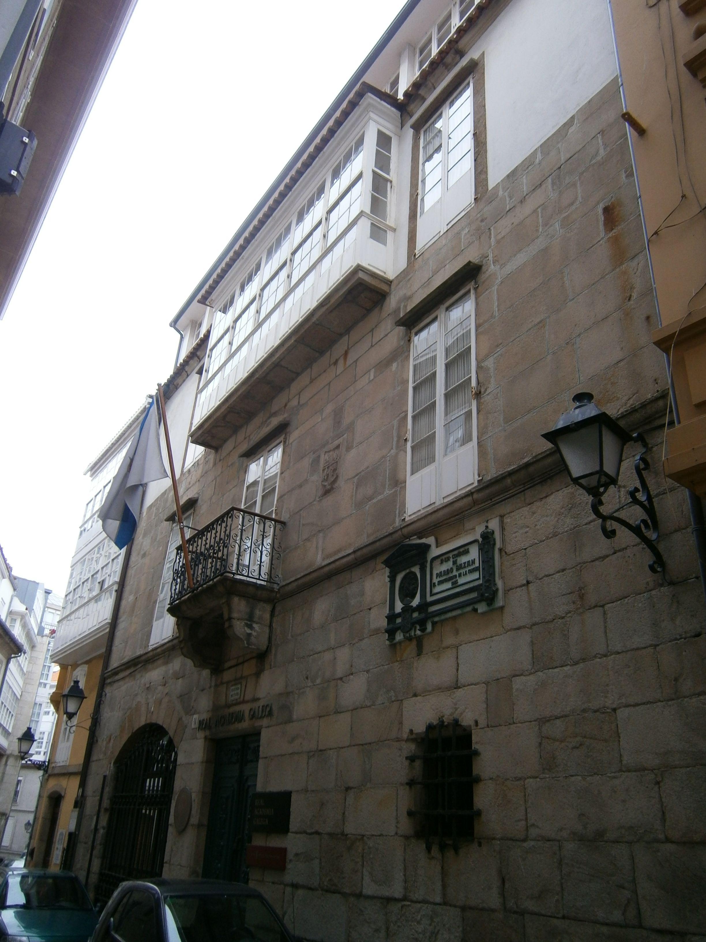 Casa Museo Emilia Pardo Bazán. Sede de la Real Academia Gallega. Crédito: Iglamela