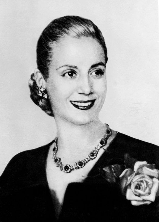 Eva Duarte de Perón, en 1947. Crédito: web mirror.co.uk