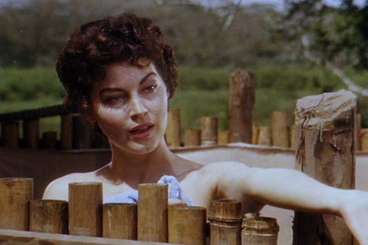La irresistible Ada Gardner, en la película Mogambo. Crédito: Wikimedia Commons