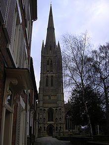 Iglesia de San Wolfram en Grantham, edificada en el siglo XIII. Crédito: Wikipedia