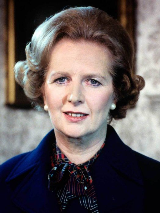 Margaret Thatcher Primera Ministra del Reino Unido. Crédito: web elle.com/uk