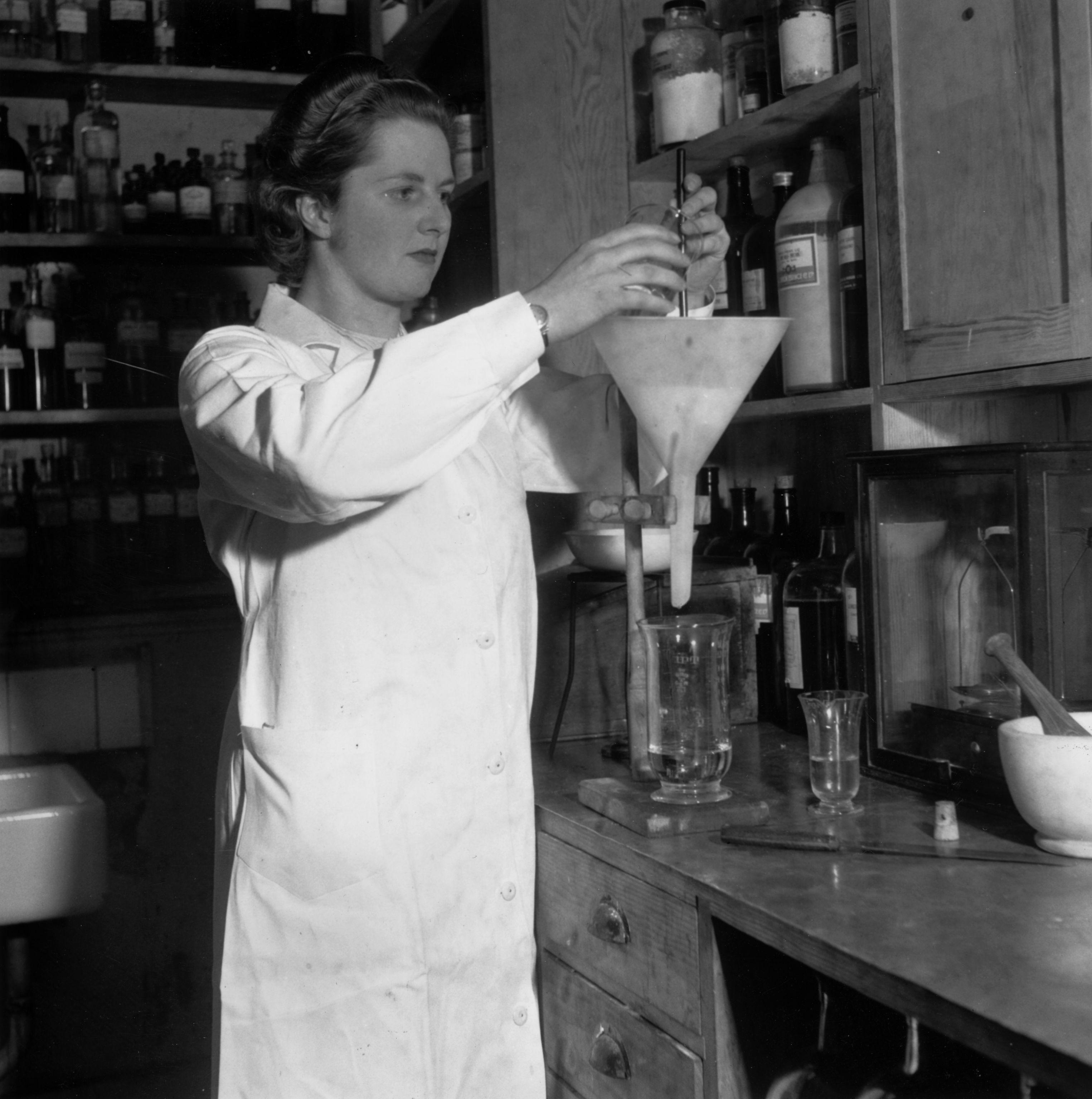 Margaret Thatcher en el año 1950. Crédito: web de blog.nature.com/naturejobs