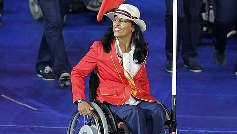 Teresa Perales en as Olimpíadas de Londres. Crédito: web abc.es