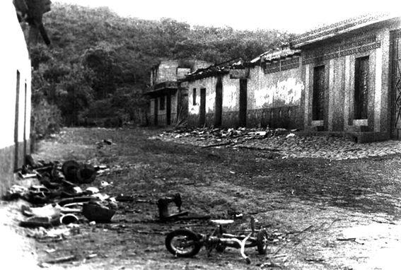El Mozote , la masacre más mortífera en la historia de América Latina. Crédito: web culturacolectiva.com