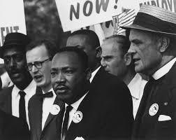 Martin Luther King en una marcha por los Derechos Civiles, realizada en Washington. Crédito: U.S. National Archives