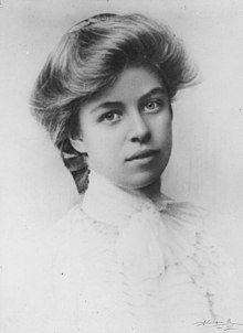 Una jovencísima Eleanor Roosevelt. Crédito: Wikipedia.
