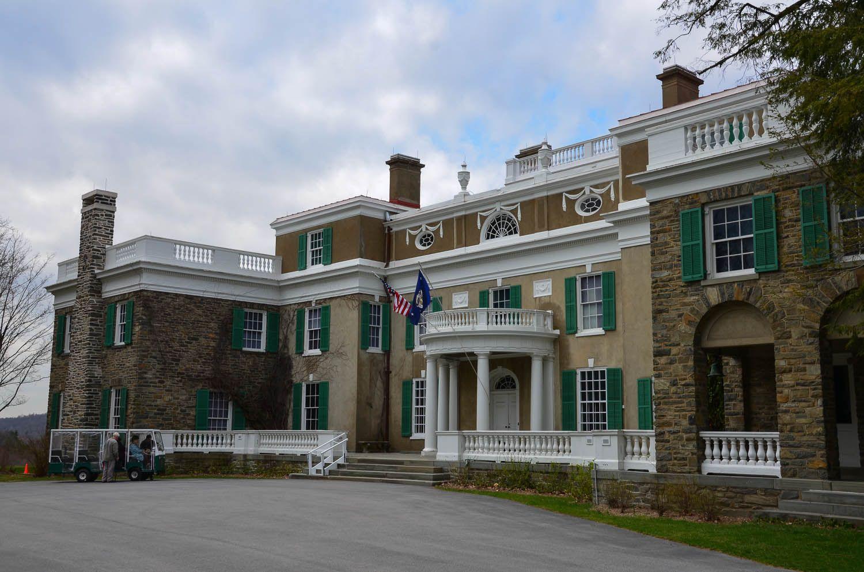 """El hogar de Franklin y Eleanor Roosevelt en Hyde Park es actualmente """"sitio histórico nacional"""". Crédito: Sandra Foyt. Web albanykid.com"""